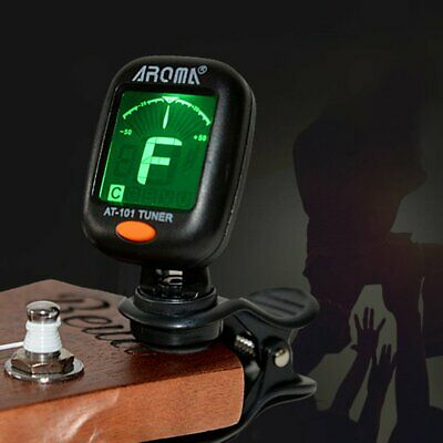 Electric Guitar Tuner Lcd Clip On Chromatic Acoustic Electric Bass Ukulele Wz