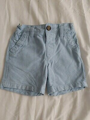 Baby Boys Next Light Blue Chino Shorts Age 12-18 Months