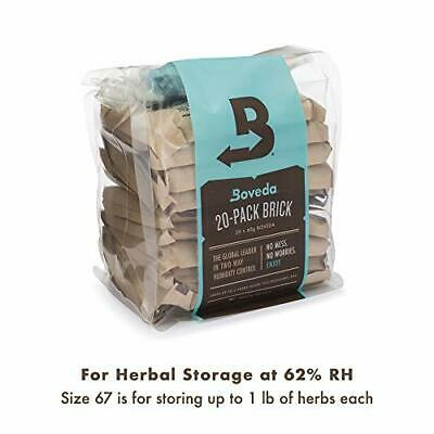 Boveda 62 Percent 20-Pack Humidifier/Dehumidifier Large 60gm (62% RH Level)