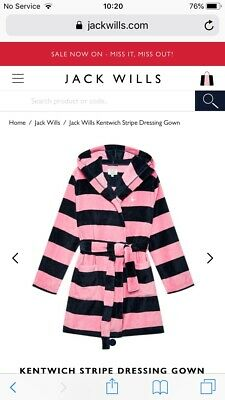 Jack Wills Ladies Dressing Robe Gown Size S/M Brand New