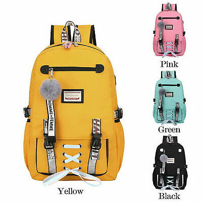 Womens Large School Bags For Teenage Girls Usb With Lock Anti Theft Backpack