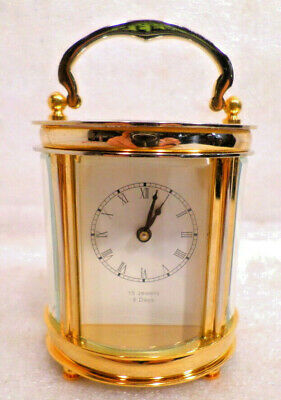 Stunning 24K Gold Plated Oval Carriage Clock