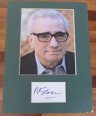 MARTIN SCORSESEHand Signed Card is Presented With A Photo-Mounted & Matted,COA