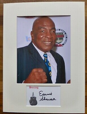 EARNIE SHAVERS-Hand Signed Card is Presented With A Photo-Mounted & Matted,COA