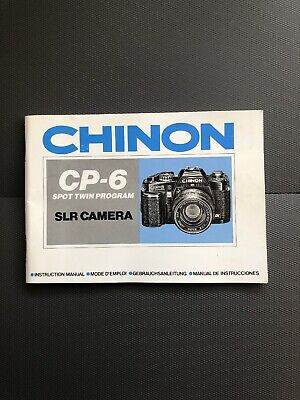 CHINON CP-6 CAMERA OWNERS INSTRUCTION MANual Guide Operating