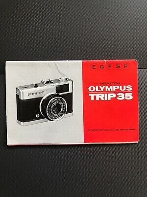 OLYMPUS TRIP 35 Instructions Book User Operating Guide Film Camera