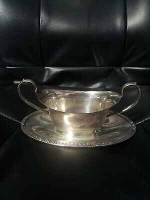 Vintage Camille International Silver Company Gravy Boat #6013