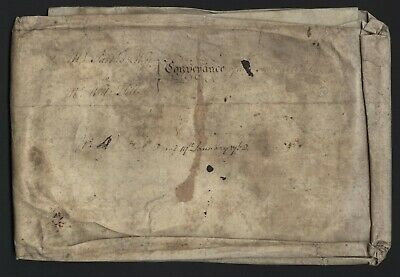 1768 Antiquarian Document Sedeley Whitgreave  Saint Mary Stafford Staffordshire
