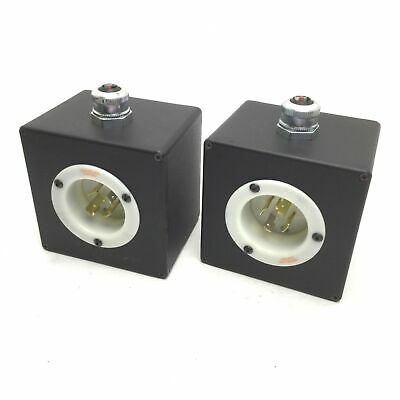 Lof of 2 Hubbell HBL2415 Turn-Locking Male Receptacle & Pendant 20A, 125/250V