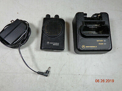 Motorola Minitor IV UHF Fire dept Pager 2 Channel 416.150 A04KUS7238AC