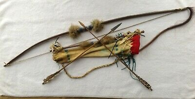 Native American Indian Quiver, Bow and Arrows