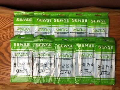 50 PCS Disposable Face Mask Surgical Medical Dental Industrial 3-Ply 10x5pieces