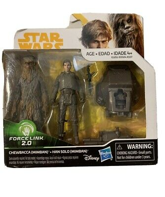 Star Wars Solo Force Link 2.0 Action Figure - Chewbacca & Han Solo (Mimban) JDL