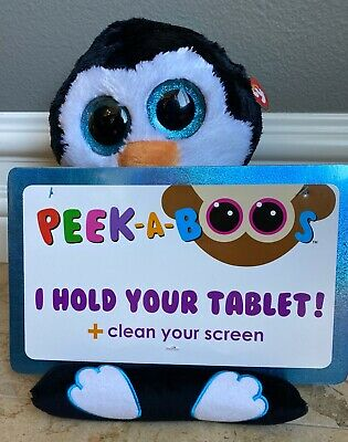 """TY PENNI 4/"""" PEEK-A-BOOS SMART PHONE HOLDER IN CELLO-NEW WITH A TAG *ADORABLE*"""