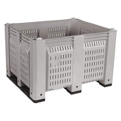 DECADE P High Density Polyethylene Bulk Container,Gray,36-3/4in.W, M40PGY3, Gray