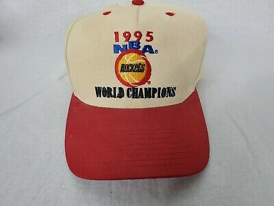 Vintage 1995 NBA WORLD Champions HOUSTON ROCKETS Adjustable Snap Back Cap