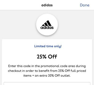 Adidas 25% Off discount