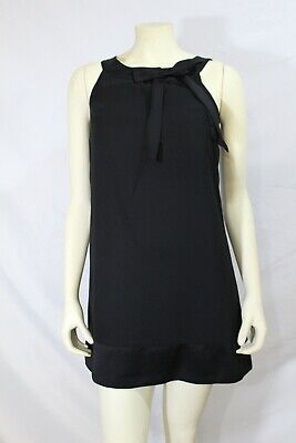 H & M women Little Black Party Dress w/Bow size 4 pre-owned