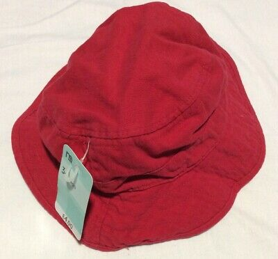 New Mothercare Red Sun Hat 3-6 Years