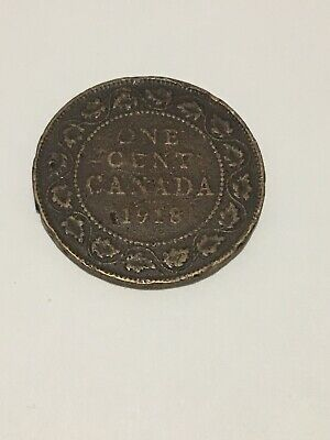 Canada 1918 1 Large cent Canadian one George V Penny