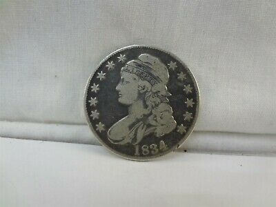 1834 United States Capped Bust Silver Half Dollar 50 Cent Coin Circulated