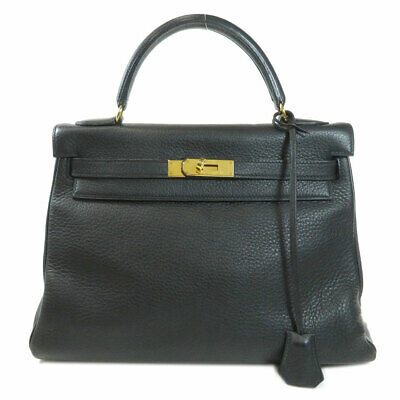 HERMES   Handbag Kelly 32 GoldHardware Black Taurillon Clemence