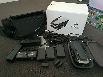 DJI Mavic Air Fly More Combo Drone - Onyx Black -almost brand new