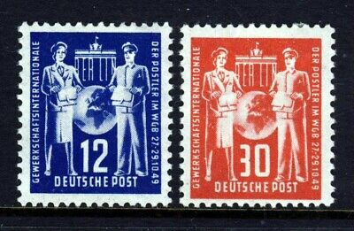 EAST GERMANY (DDR) 1949 Postal Workers Congress Set SG E2 & SG E3 MINT