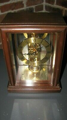 HAMILTON SKELETON HALLER MOVEMENT VINTAGE *MADE In GERMANY MANTEL CLOCK