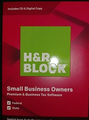 H&R Block Small Business Owners Premium & Business Tax Software 2019