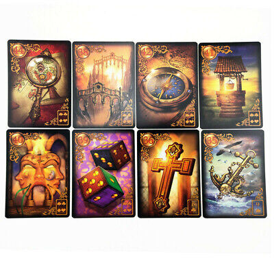 47Pcs Read Fate Lenormand Oracle Cards Mysterious Fortune Tarot Cards Game Set