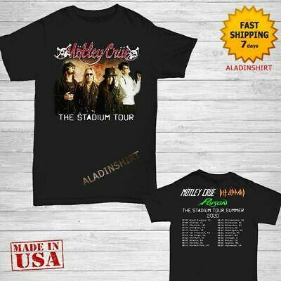 new...Motley Crue t Shirt The Stadium Tour Dates 2020 T-Shirt Size S-3XL