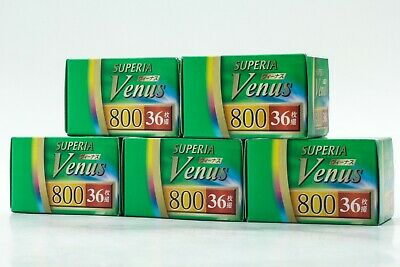 【NEW】 FUJIFILM SUPERIA Venus 800 36 Exposures 35mm Film x 5p EXP02/21 JAPAN #194