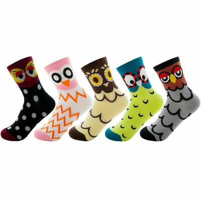 3,6,12 Pairs Socks Girls Owl and Flower Designs Animal Fashion Sock