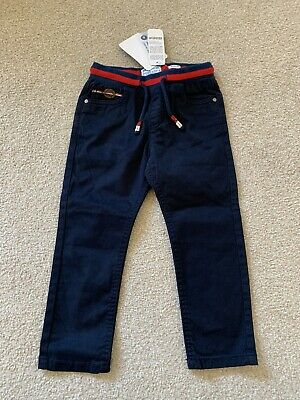 Mayoral Toddler Boy Navy Blue Chino Trousers Joggers 2 Years Slim Fit