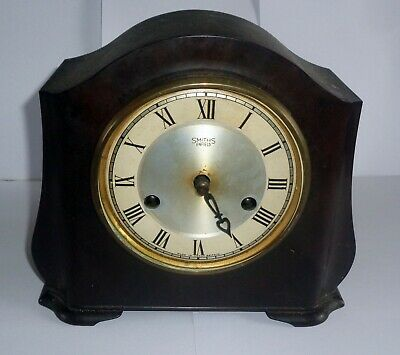 Vintage SMITHS OF ENFIELD 1930s MANTEL CLOCK IN ART DECO CASE