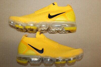 Men's Nike Air Vapormax Flyknit Moc 2 Laceless Size 8.5 Yellow Black Vapor Max