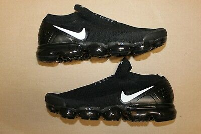 Men's Nike Air Vapormax Flyknit Moc 2 Laceless Size 11 Black White Vapor Max