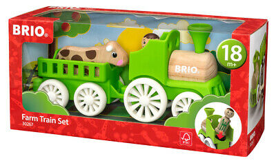 30267 BRIO Farm Train Set Wooden Plastic Push Alongs Baby Age 18 Months+ Toddler