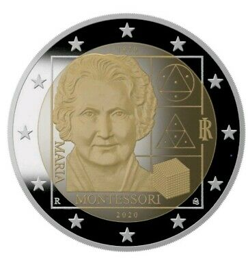2 Euro Italia 2020 Proof In Cofanetto 150 Ann Nascita Maria Montessori