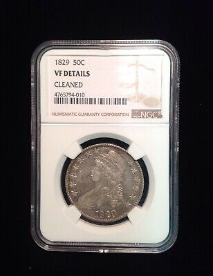 1829 Silver Capped Bust Half Dollar NGC VF Details