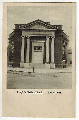 People's National Bank, Laurel, Delaware Postcard