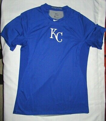 Nike Pro KC Kansas City Royals Team Training shirt MLB baseball Size Large