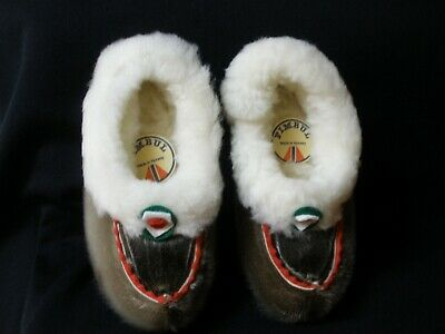 Children's Leather And Reindeer Fur Shoes From Norway Size 32, Fimbul, New