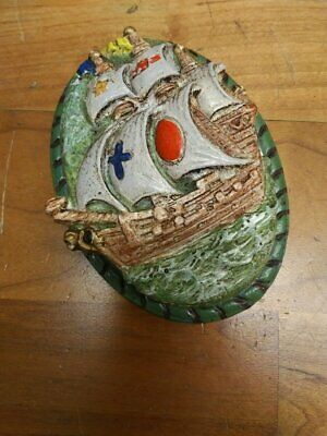 original paint OLD HUBLEY BOAT SHIP SAILBOAT cast iron DOOR KNOCKER