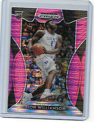 ZION WILLIAMSON 2019-20 Prizm Draft Picks Basketball PINK PULSAR RC Card No. 1