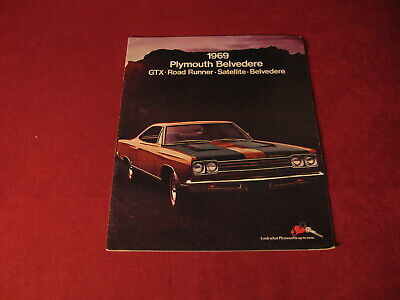 1969 Plymouth Belvedere Road Runner GTX Sales Brochure Booklet catalog Old Book