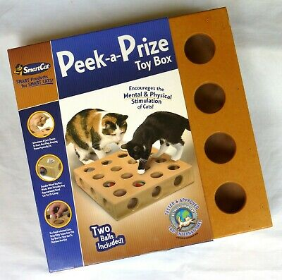 SMARTCAT PEEK A Prize Pet Cat Toy Box Pet Stages Tower of