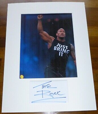 THE ROCK-A Hand Signed Card Presented With A Photo-Mounted & Matted,COA