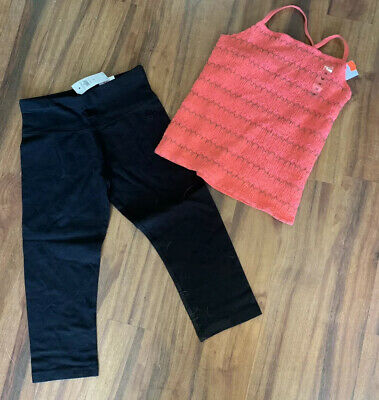 New Justice Girls Size 10  Outfit For Summer Capri Leggings Pants & Tube Top
